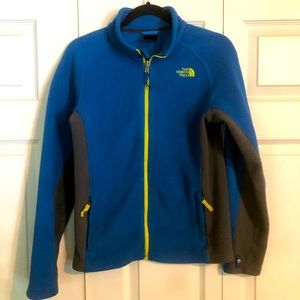 THE NORTH FACE Boy's Large 14-16 Blue Gray Fleece